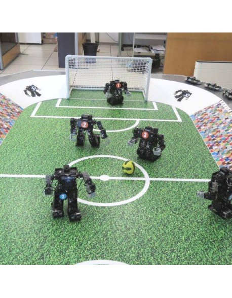 Animation robots footballeurs