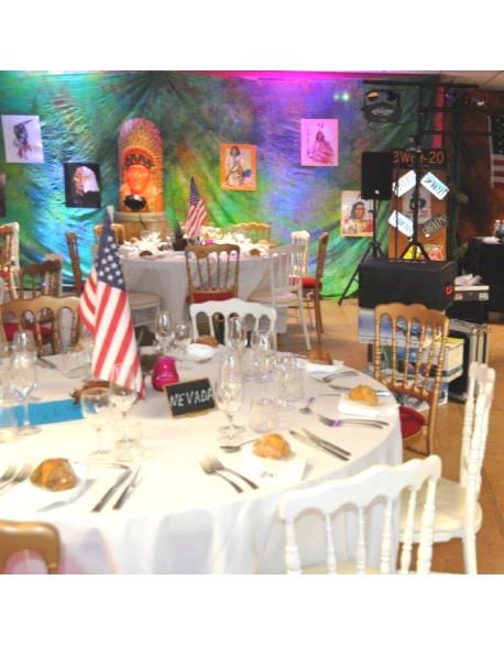Décoration tables - réception Western
