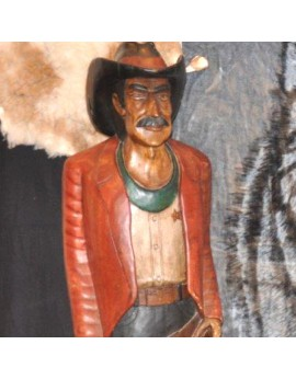 Location statue Cow-Boy en bois
