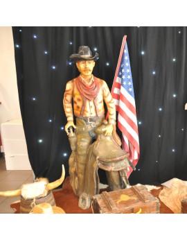 Statut Cow-Boy en résine