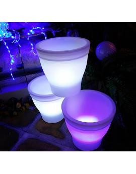 Location vase ou pot de fleurs lumineux