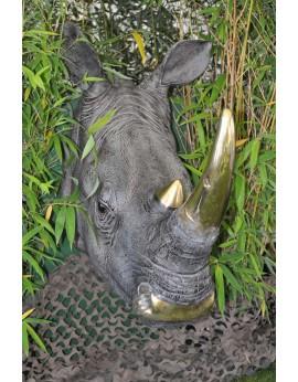 Tête de Rhinocéros en résine