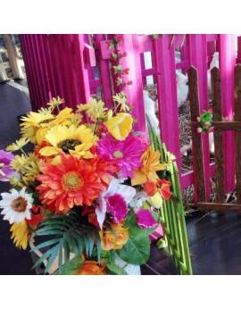Location fleurs artificielles décor Champêtre