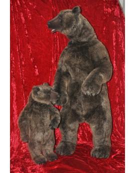 Ours et Ourson en peluche