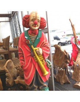 Location statue Clown en bois