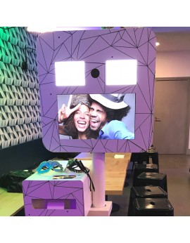 Location de photobooth ou borne-photo selfie autonome