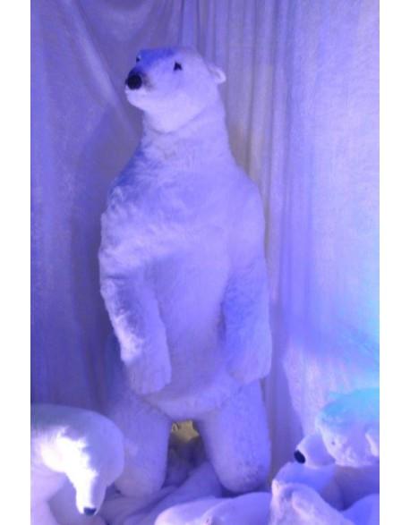 Ours blanc en résine
