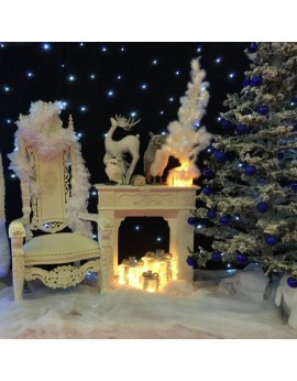 Location de décors de Noël blanc