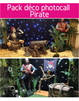 Forfait pack déco photocall Pirate