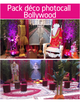 Forfait pack déco photocall Bollywood