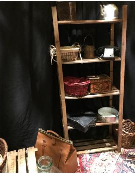 Étagère en bois vintage