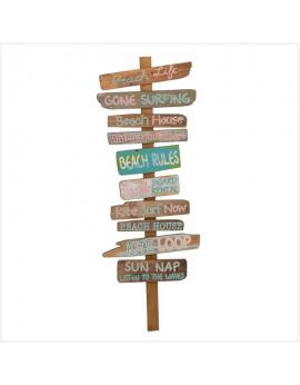 Panneau directions - Beach Rules