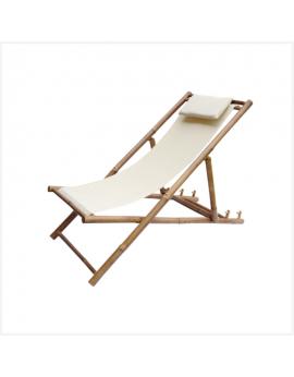 Transat - chaise longue - chilienne en bambou