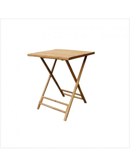 Table en bambou 60 x 60 x h73