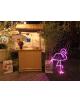 Lampe néon flamant rose lumineux
