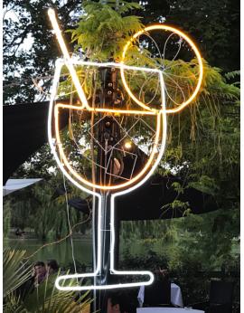 Lampe néon jus de fruits lumineux