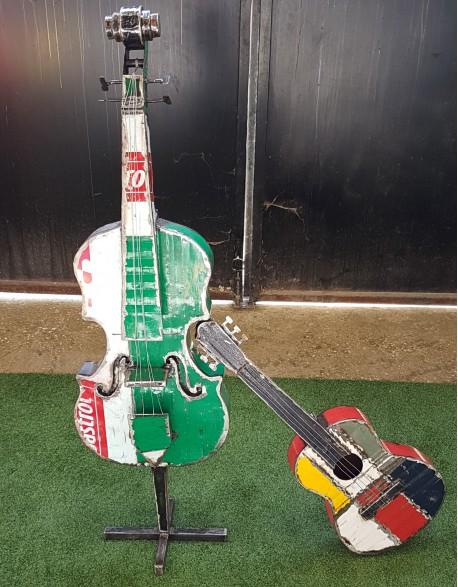Guitare colorée