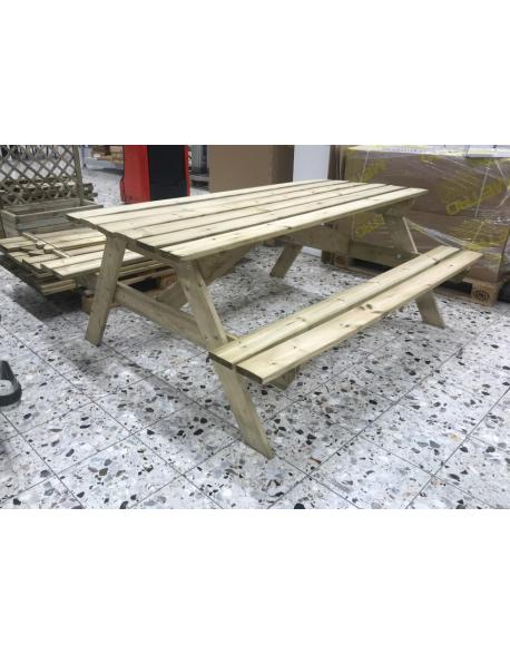 Table pique nique en bois