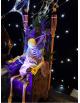 Squelette sur trône