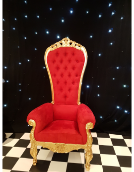 Grand trône rouge