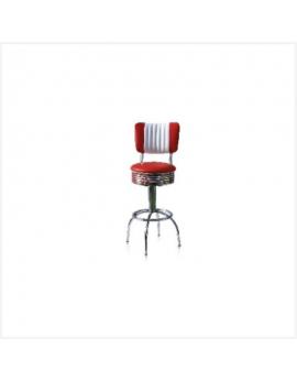 Tabouret américain rouge et blanc