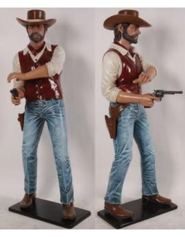 Statue Cow boy au pistolet