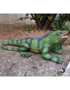 Iguane en résine