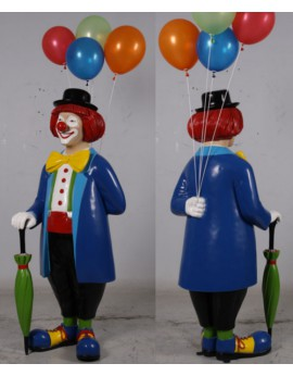 Statue clown aux ballons