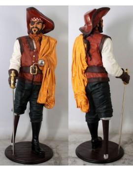 Statue pirate élégant jambe de bois