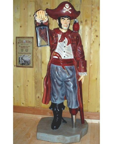 Statue pirate avec lanterne