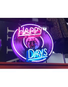 Néon vinyle happy days