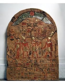 Pierre gravée de hiéroglyphes