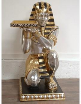 Location statue serveur Egyptien à genoux tenant un plateau