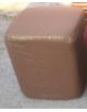 Pouf carré en tissus marron