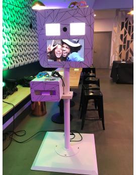 Borne photo selfie autonome