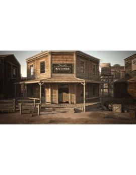 Location bâche imprimée Saloon
