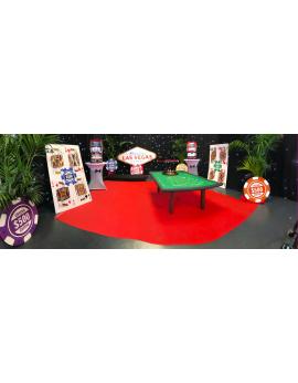 Location de décors et animations à thème casino