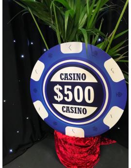 Location de jetons de casino géants pour décors soirée casino