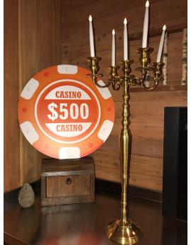 chandelier doré ou argent