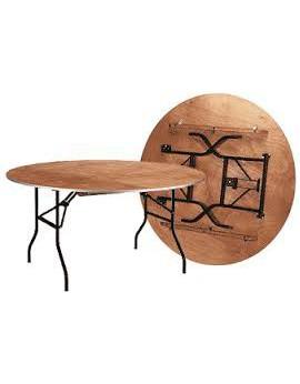Location de tables rondes pliantes