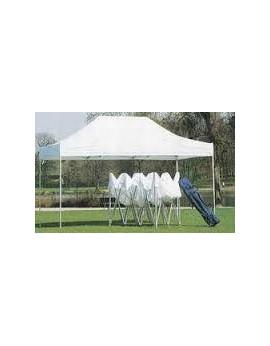 Location de tente de réception pliable 6m x 3m - 18m²