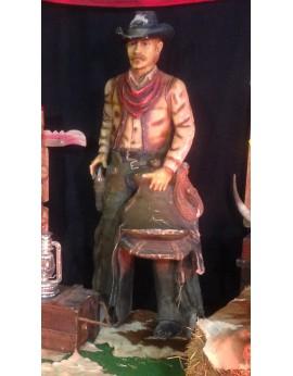 location de statue cow-boy en résine