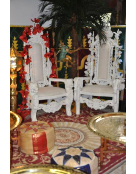 Location trône blanc