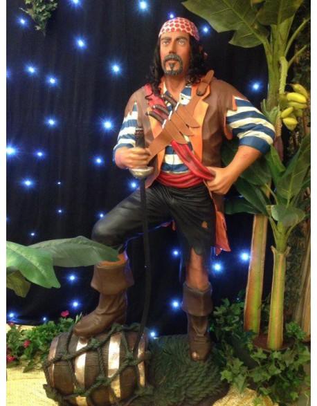 Location statue Pirate en résine