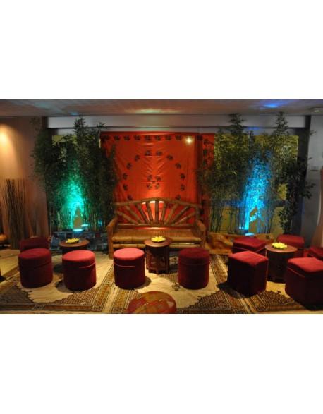 Location banc en bambou