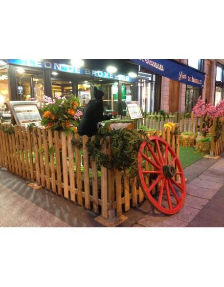 Location roue de charette en bois - Roue de charette decoration ...